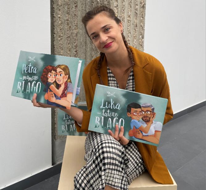 Andrijana Majstorović s knjigom Mamino blago