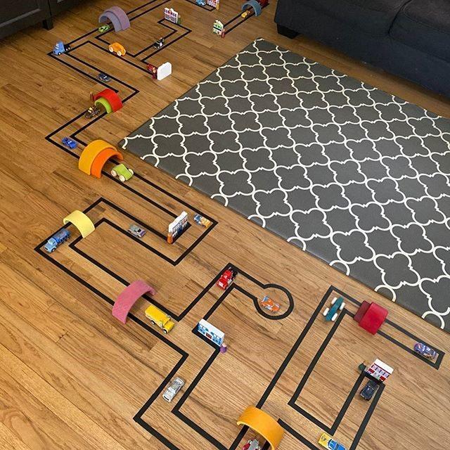 dječja igra cesta na tepihu