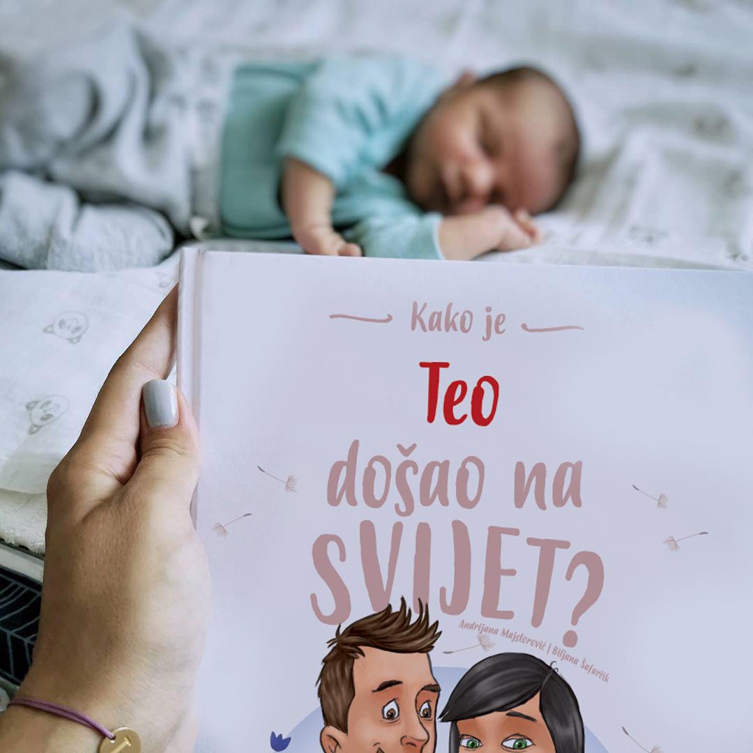 beba s knjigom Kako sam došao na svijet